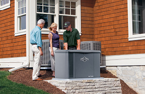 Generator tech with homeowners and new generator